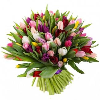 Букеты из тюльпанов купить в спб недорого — img 15