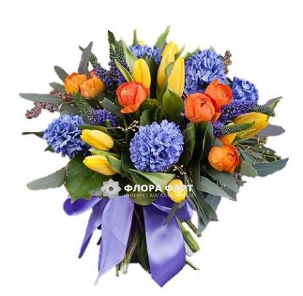 Оптовым цветок гиацинт купить в москве букет